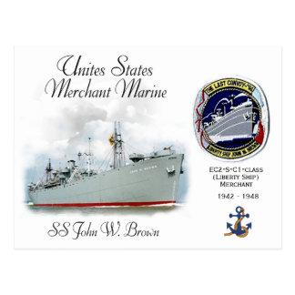 Cartão Postal SS John W. Brown (navio de liberdade)