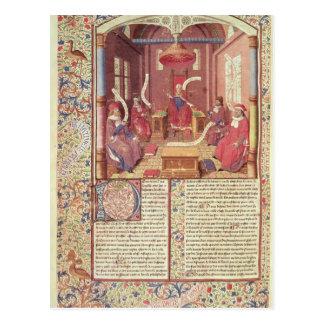 Cartão Postal St Augustine, Epicurus, Zeno, Antiochus &