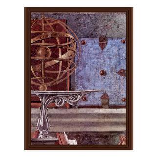 Cartão Postal St Augustine no detalhe contemplativo da oração