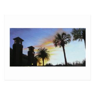 Cartão Postal St Augustine no por do sol