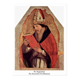 Cartão Postal St Augustine por Antonello a Dinamarca Messina