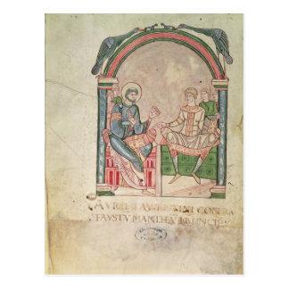 Cartão Postal St Augustine que discute com o Faustus