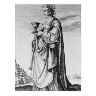 Cartão Postal St. Barbara, gravada por Wenceslaus Hollar, 1647