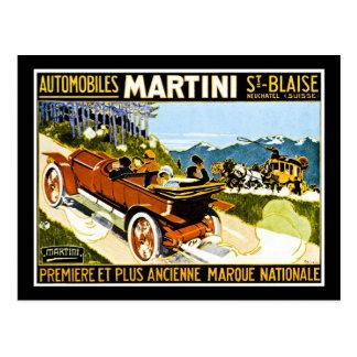 Cartão Postal St. Blaise dos automóveis de Martini