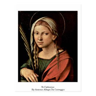 Cartão Postal St.Catherine por Antonio Allegri a Dinamarca