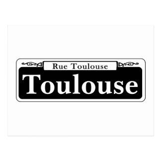 Cartão Postal St. de Toulouse, sinal de rua de Nova Orleães