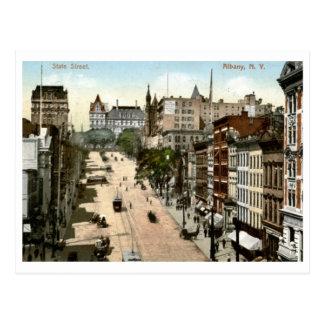 Cartão Postal St. do estado, vintage 1907 de Albany, New York