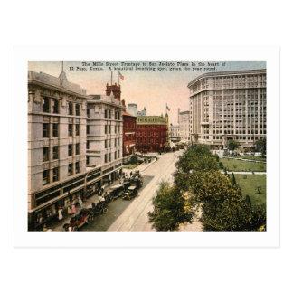 Cartão Postal St. dos moinhos, vintage de El Paso, Texas