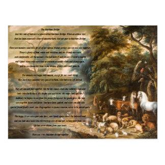 Cartão Postal St Francis de Assisi & da ponte do arco-íris