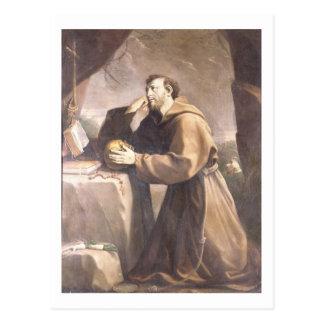 Cartão Postal St Francis de Assisi na oração