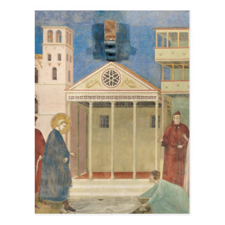 Cartão Postal St Francis honrou por um homem simples, 1297-99
