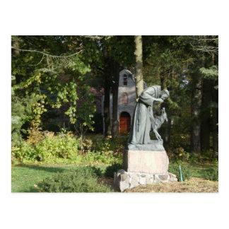 Cartão Postal St. Franics e o lobo de Gubbio