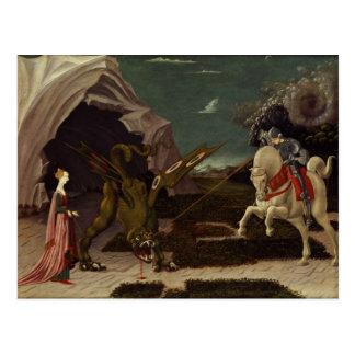 Cartão Postal St George e o dragão, c.1470