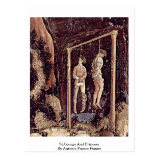 Cartão Postal St George e princesa Antonio Puccio Pisano