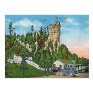 Cartão Postal St. Ignace Michigan do vintage