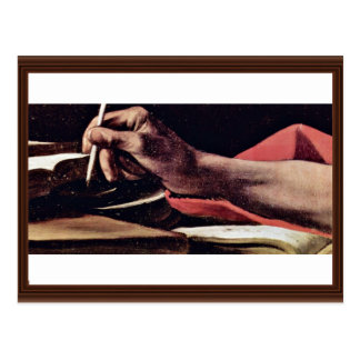 Cartão Postal St Jerome, escrita detalhada por Michelangelo