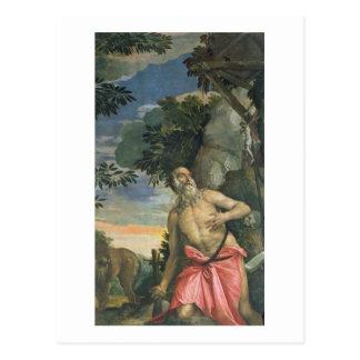 Cartão Postal St Jerome no Penitence (óleo em canvas)