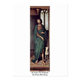 Cartão Postal St John o baptista por Hans Memling