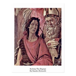 Cartão Postal St John o baptista por Sandro Botticelli