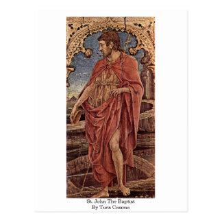 Cartão Postal St John o baptista por Tura Cosimo