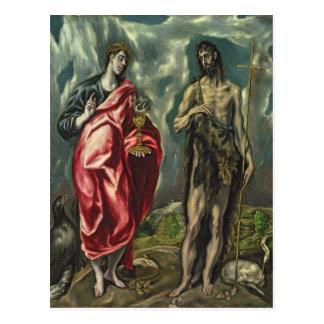 Cartão Postal St John o evangelista e St John o baptista