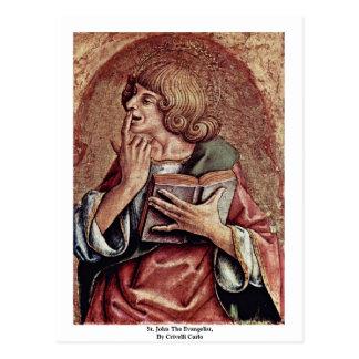 Cartão Postal St John o evangelista, por Crivelli Carlo