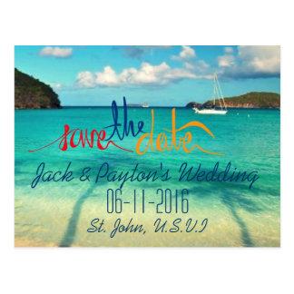 Cartão Postal St John que Wedding economias tropicais da praia a