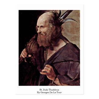 Cartão Postal St. Jude Thaddeus por Georges de La Tour