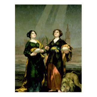 Cartão Postal St. Justina e St. Rufina, 1817