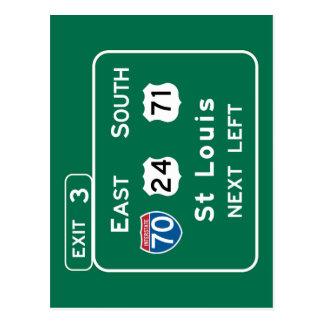 Cartão Postal St Louis, sinal de estrada do MO