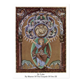 Cartão Postal St Luke pelo mestre dos evangelho de Otto Iii.
