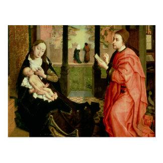 Cartão Postal St Luke que tira um retrato do Virgin