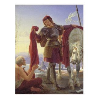 Cartão Postal St Martin e o mendigo, 1836