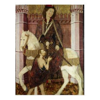 Cartão Postal St Martin que compartilha de seu casaco