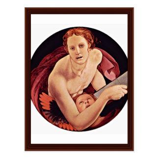 Cartão Postal St Matthew por Bronzino Angelo