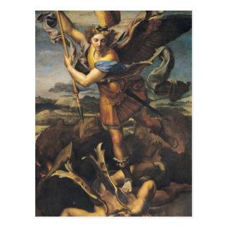 Cartão Postal St Michael que oprime o demónio, 1518