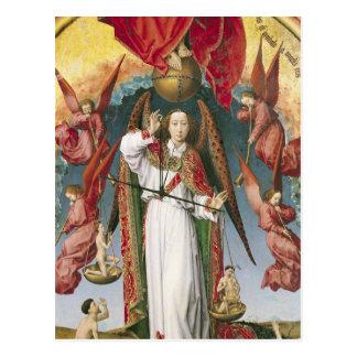 Cartão Postal St Michael que pesa as almas