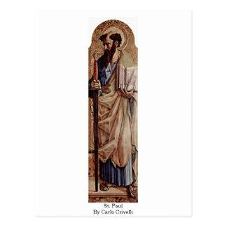 Cartão Postal St Paul por Carlo Crivelli