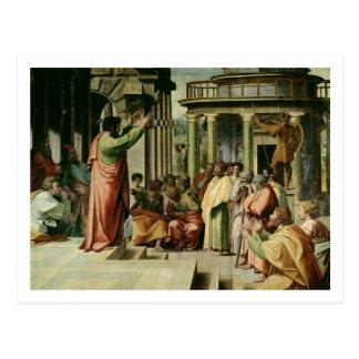 Cartão Postal St Paul que Preaching em Atenas (desenhos animados