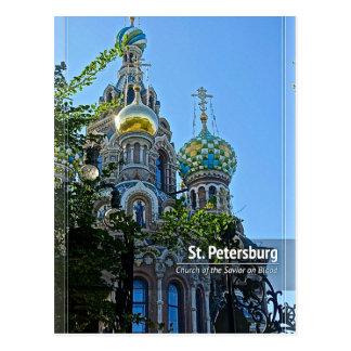 Cartão Postal St Petersburg, igreja do salvador no sangue