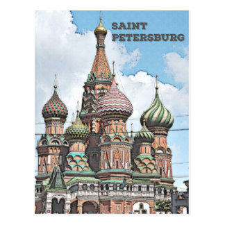 Cartão Postal St Petersburg, Rússia