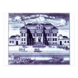Cartão Postal St Petersburg. Vista do palácio do inverno de