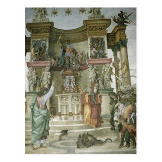 Cartão Postal St Philip que Exorcising um demónio, c.1497-1500