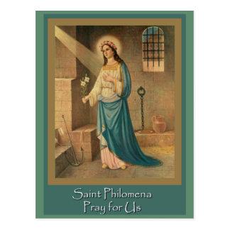 Cartão Postal St. Philomena maravilha trabalhador banquete dia o