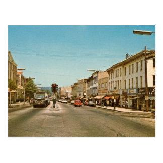 Cartão Postal St. principal, Danbury, vintage do CT