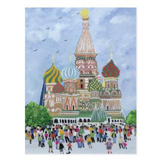 Cartão Postal St. Quadrado vermelho 1995 da catedral da