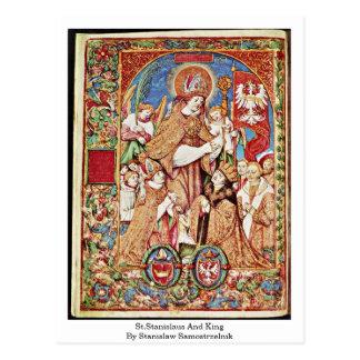 Cartão Postal St.Stanislaus e rei Stanislaw Samostrzelnik