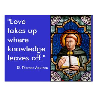 Cartão Postal St Thomas Aquinas