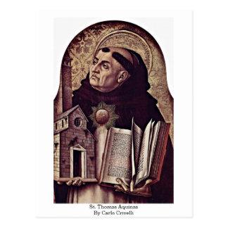 Cartão Postal St Thomas Aquinas por Carlo Crivelli