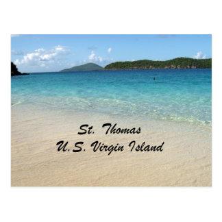 Cartão Postal St Thomas, ilha de Virgin dos E.U.